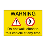 Pedestrian Vehicle Safety Sticker - Safety-Label.co.uk