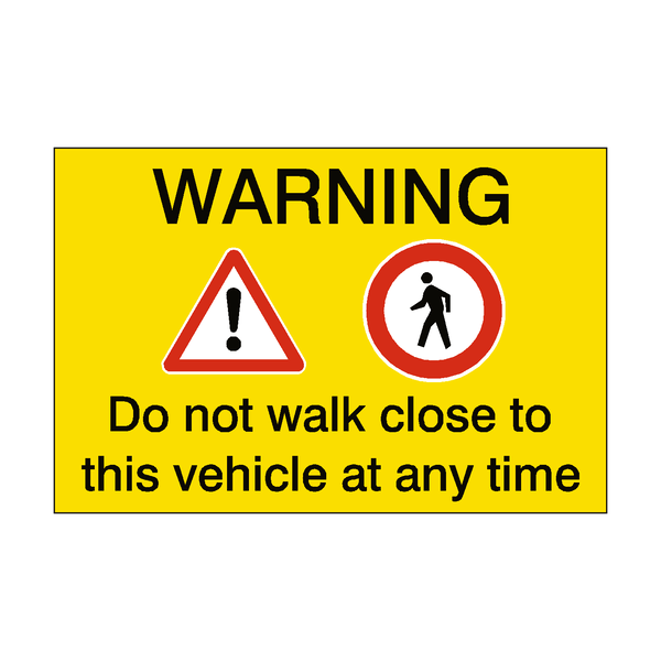 Pedestrian Vehicle Safety Sticker | Safety-Label.co.uk