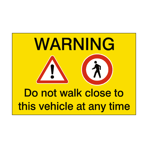 Pedestrian Vehicle Safety Sticker