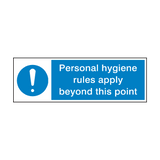 Personal Hygiene Rules Point Sign | Safety-Label.co.uk