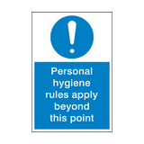Personal Hygiene Rules Sign | Safety-Label.co.uk