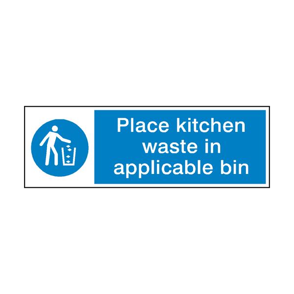 Place Kitchen Waste In Bin Hygiene Sign - Safety-Label.co.uk