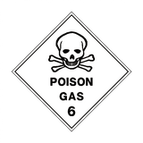 Poison Gas 6 Label - Safety-Label.co.uk