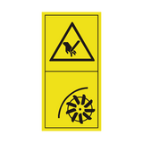 Put Safety Shield In Place While Grinding Knives Sticker | Safety-Label.co.uk