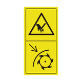 Use Safety Shield While Grinding Knives Sticker | Safety-Label.co.uk