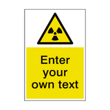 Radioactive Material Custom Hazard Sticker | Safety-Label.co.uk