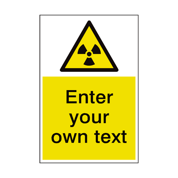 Radioactive Material Custom Hazard Sticker - Safety-Label.co.uk