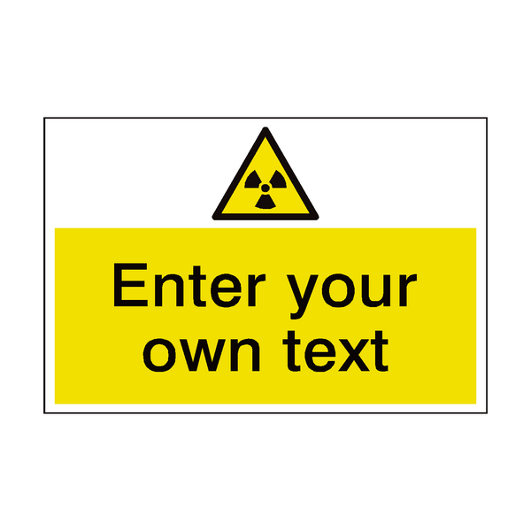 Radioactive Material Custom Safety Sticker | Safety-Label.co.uk