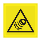 Radar Sensor ISO 11684 Label | Safety-Label.co.uk