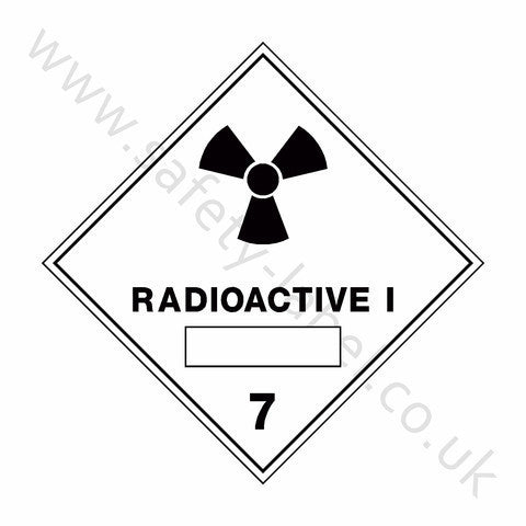 Radioactive i 7 Sign - Safety-Label.co.uk