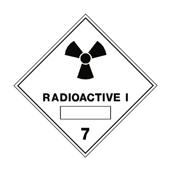 Radioactive I 7 Label - Safety-Label.co.uk