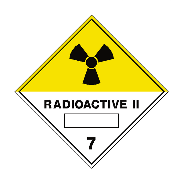 Radioactive II 7 Label | Safety-Label.co.uk