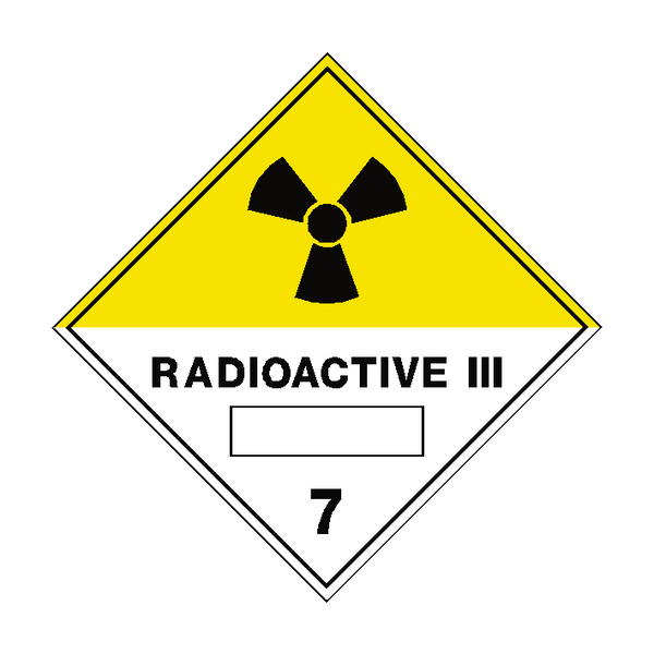 Radioactive III 7 Label - Safety-Label.co.uk