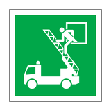 Rescue Window Symbol Sign | Safety-Label.co.uk