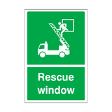 Rescue Window Sticker | Safety-Label.co.uk