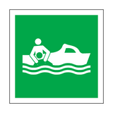 Rescue Boat Label | Safety-Label.co.uk