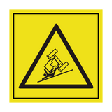 Risk Of Rolling Tractor ISO Label | Safety-Label.co.uk