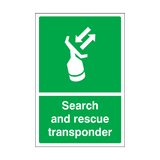 Search & Rescue Transponder Sticker | Safety-Label.co.uk