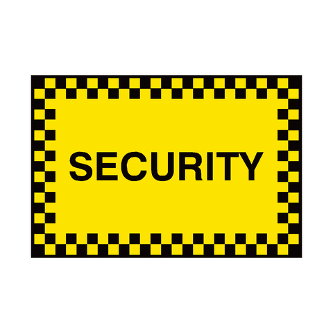 General Security Sign | PVC Safety Signs | Health and Safety Signs