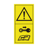 Shut Off Engine & Remove Key Before Performing Maintenance Or Repair Work Sticker | Safety-Label.co.uk