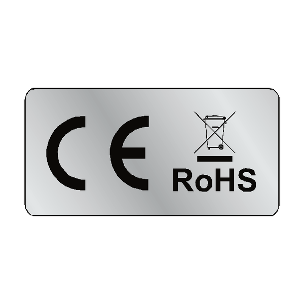 Silver CE WEEE RoHS Labels - Safety-Label.co.uk