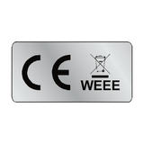 Silver CE WEEE Label | Safety-Label.co.uk