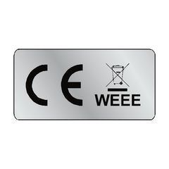 Silver CE WEEE Label - Safety-Label.co.uk