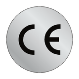 Silver CE Label Circular | Safety-Label.co.uk