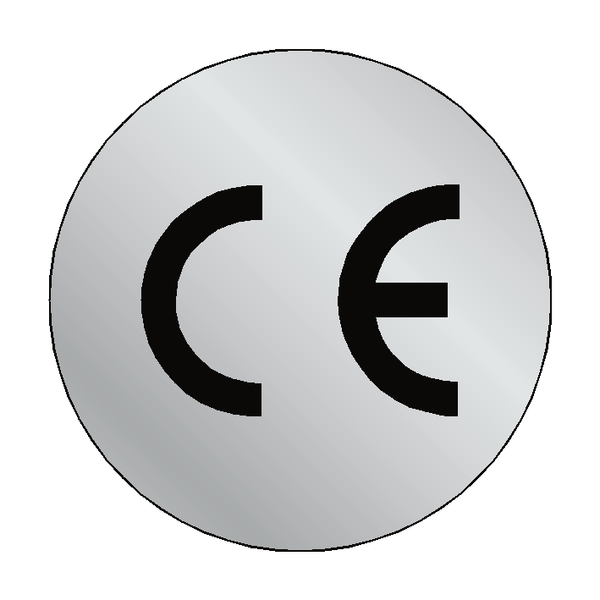 Silver CE Label Circular - Safety-Label.co.uk