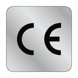 Silver CE Label Square | Safety-Label.co.uk