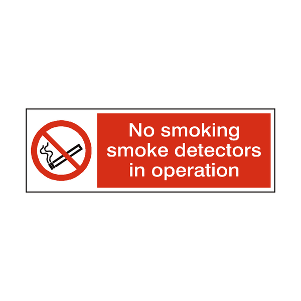 Smoke Detectors In Operation Sticker | Safety-Label.co.uk