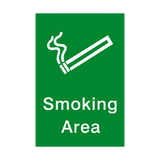Smoking Area Portrait Sign | Safety-Label.co.uk