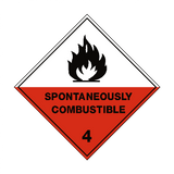 Spontaneously Combustible 4 Label | Safety-Label.co.uk