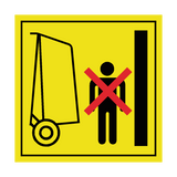 Stay Clear Of Gate Swinging Label | Safety-Label.co.uk