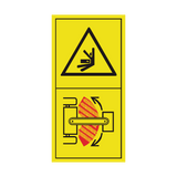 Stay Clear Of Articulation Area While The Engine Is Running Sticker | Safety-Label.co.uk