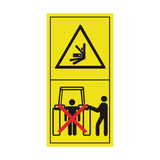 Stay Clear Of Draft Link Lifting Range While Operating Rockshaft Controls Sticker | Safety-Label.co.uk