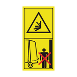 Stay Clear Of Gate Swinging Area While Tractor Engine Is Running Sticker | Safety-Label.co.uk