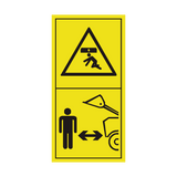 Stay Clear Of Raised Boom and Bucket Sticker | Safety-Label.co.uk