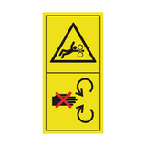 Stay Clear Of Rotating Machine Parts Sticker | Safety-Label.co.uk