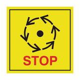 Stop Machine & Equipment ISO Label | Safety-Label.co.uk