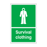 Survival Clothing Sticker | Safety-Label.co.uk