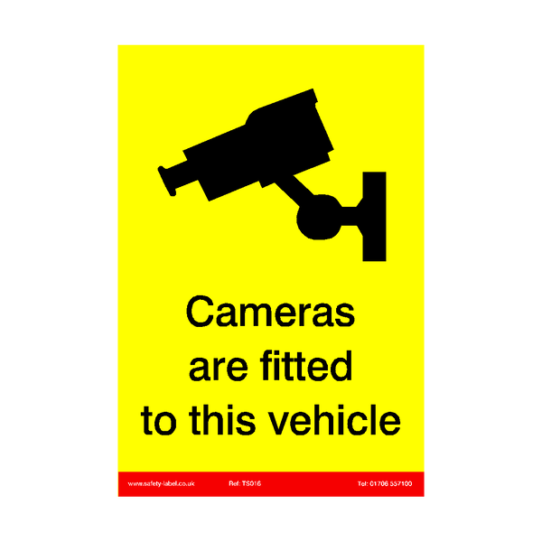 Cameras Fitted To This Vehicle Sticker | Safety-Label.co.uk