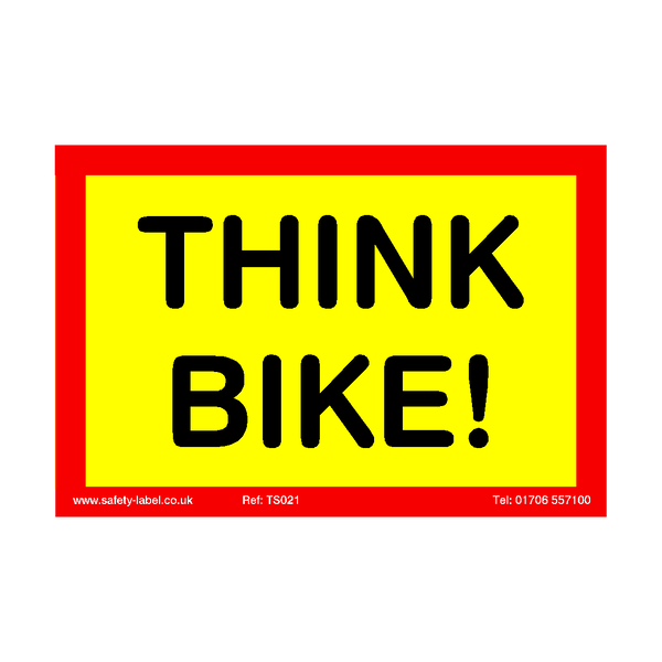 Think Bike Sticker - Safety-Label.co.uk