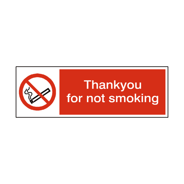 No Smoking Thank You Sticker | Safety-Label.co.uk