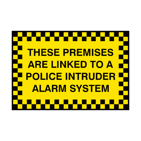 Premises Linked To Police Sign | PVC Safety Signs | Health and Safety Signs