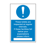 Toilet Inspection Sign | Safety-Label.co.uk