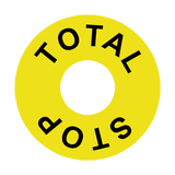 Total Stop Legend Label | Safety-Label.co.uk