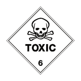 Toxic 6 Label - Safety-Label.co.uk