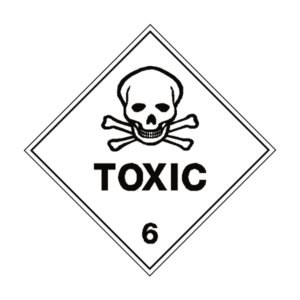 Toxic 6 Label | Safety-Label.co.uk