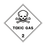 Toxic Gas 2 Label | Safety-Label.co.uk